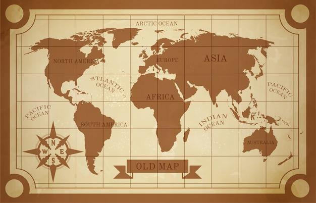 Vecchia illustrazione della mappa