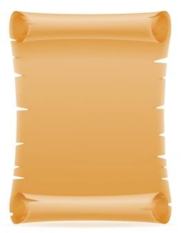 Vecchia illustrazione di vettore del rotolo di carta