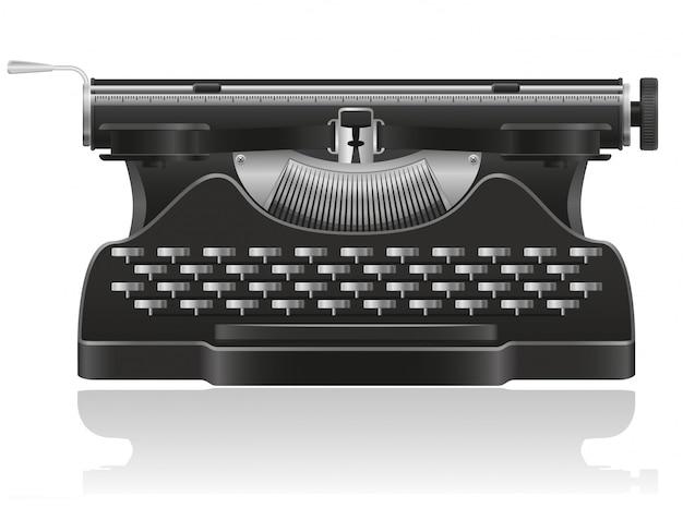 Vecchia illustrazione di vettore della macchina da scrivere
