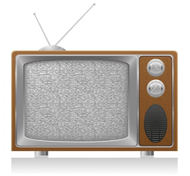 Vecchia illustrazione di vettore della tv
