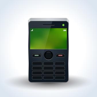 Vecchia illustrazione realistica di vettore del telefono cellulare