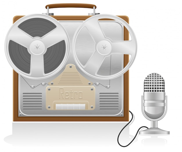 Vecchia illustrazione vettoriale registratore