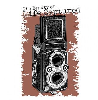 Vecchia progettazione di vettore della macchina fotografica