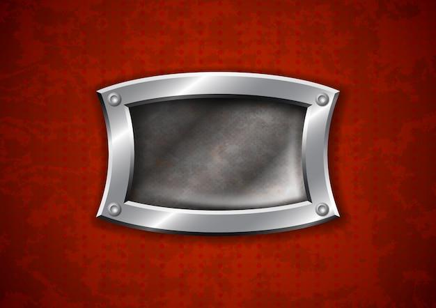 Vecchia struttura in metallo arrugginito