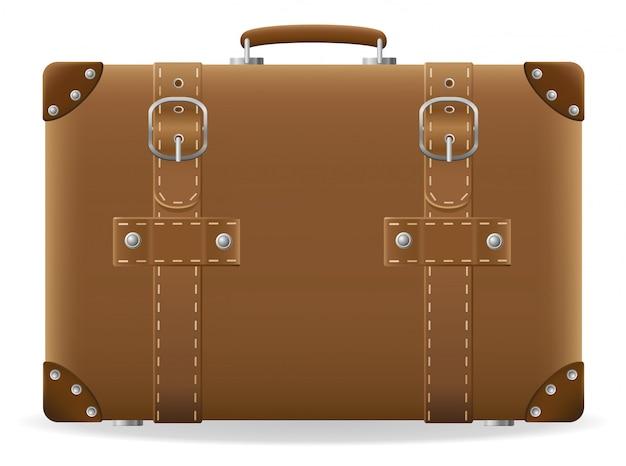 Vecchia valigia per illustrazione vettoriale viaggio