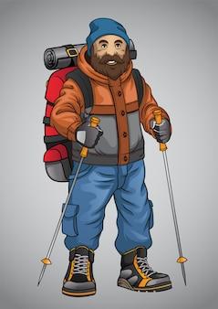 Vecchio avventuriero escursionista