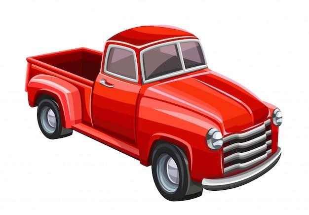 Vecchio camion rosso. illustrazione
