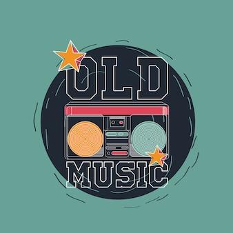 Vecchio disegno vettoriale di musica