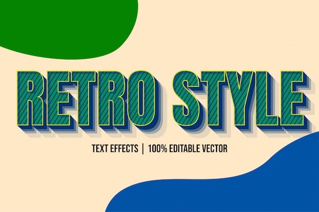 Vecchio effetto moderno blu verde del retro stile del testo