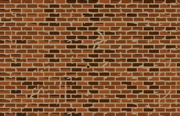 Vecchio fondo del muro di mattoni di lerciume