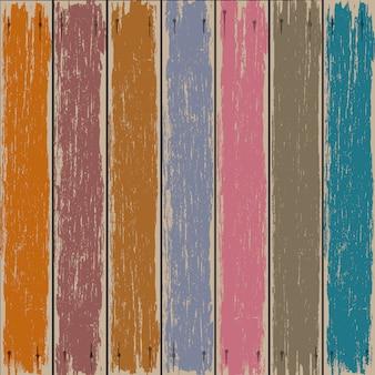 Vecchio fondo di legno colorato del recinto