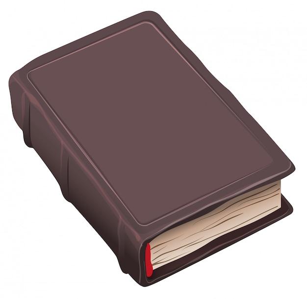 Vecchio libro chiuso in copertina marrone