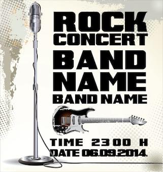 Vecchio orologio concerto rock