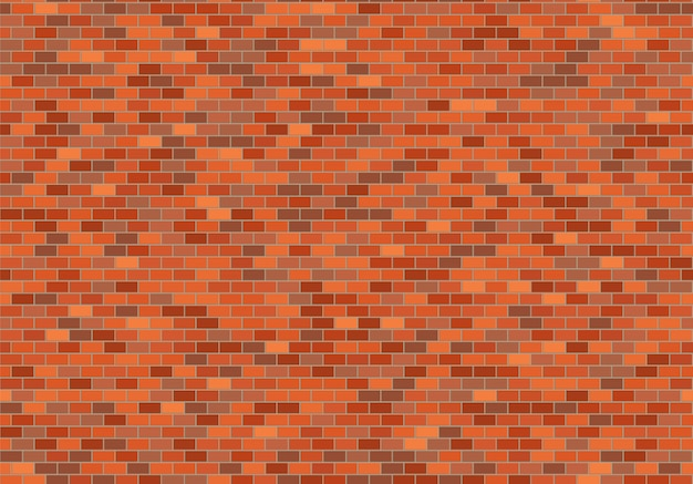 Vecchio sfondo di muro di mattoni. vettore senza cuciture del modello di struttura dei mattoni rossi.