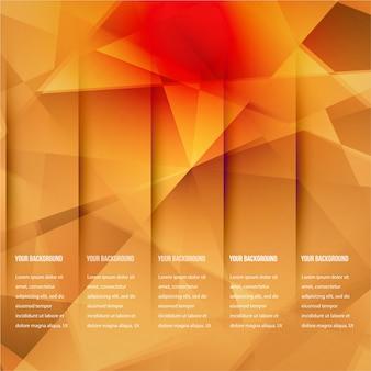 Vector 3d banner e quadrati. design