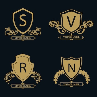 Vector amazing design logo di lusso