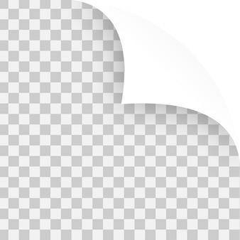 Vector angoli arricciati di carte di nota