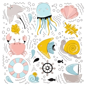 Vector animali marini