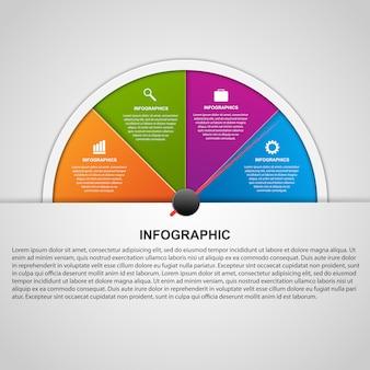 Vector astratto colorato infografica.