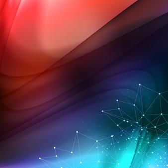 Vector astratto disegno di sfondo ondulato.