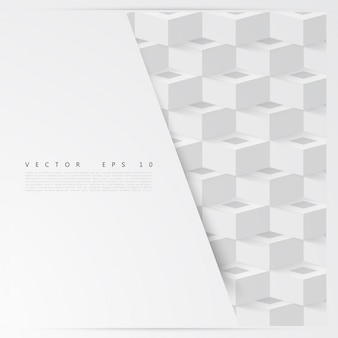 Vector astratto forma geometrica da cubi.