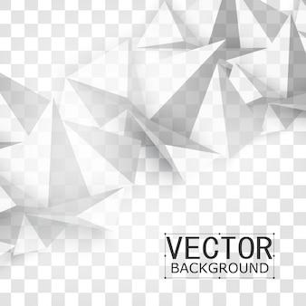 Vector astratto forma geometrica dal grigio.