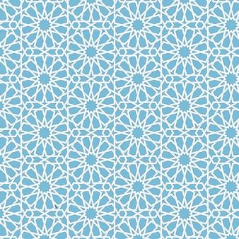 Vector astratto sfondo geometrico islamico. basato su ornamenti musulmani etnici. bande di carta intrecciate. sfondo elegante per carte, inviti ecc.