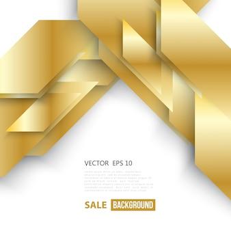 Vector astratto sfondo geometrico oro.