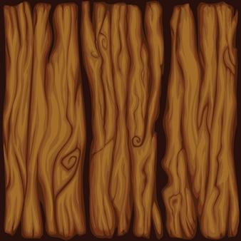 Vector cartoon bordo struttura di legno