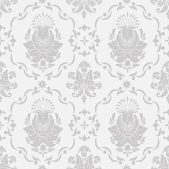 Vector damasco sfondo senza soluzione di continuità. ornamento classico di lusso antiquariato damasco, texture senza soluzione di continuità vittoriana reale per sfondi, tessile, confezionamento. tema barocco floreale squisito.