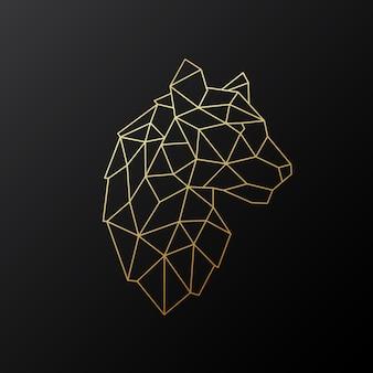 Vector emblema tigre geometrica.