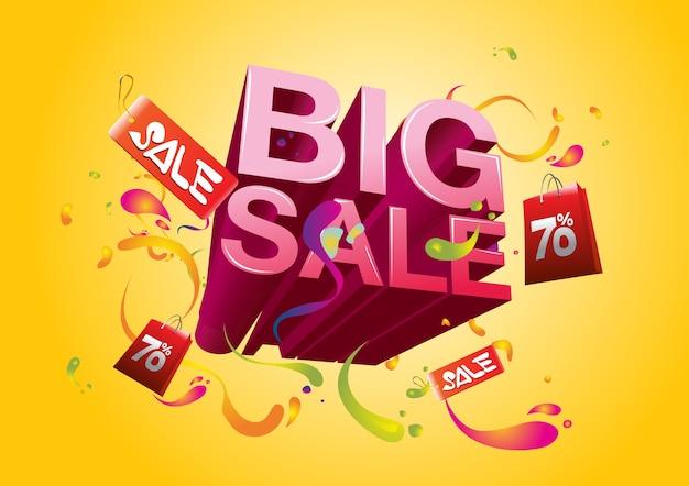 Vector estate grande promozione di vendita e evento di vacanza