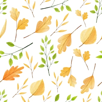 Vector foglie d'autunno senza soluzione di continuità