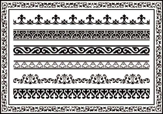 Vector i bordi tribali. sfondo senza soluzione di continuità etnica vintage tribale