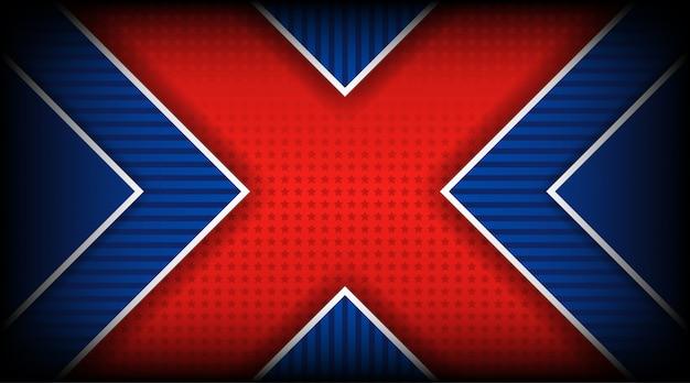 Vector il concetto dell'illustrazione del quarto luglio del giorno dell'indipendenza dell'america