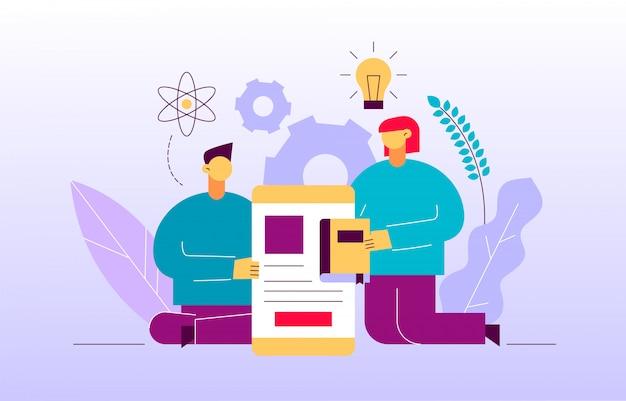 Vector il concetto online dell'insegna della pagina web di istruzione