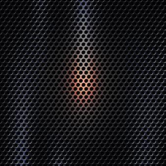 Vector il fondo di struttura del metallo scuro 3d con effetto della luce