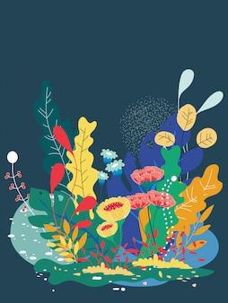 Vector l'illustrazione di bei fiori della molla e del sole floreali