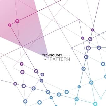 Vector la progettazione geometrica della rete con fondo astratto.