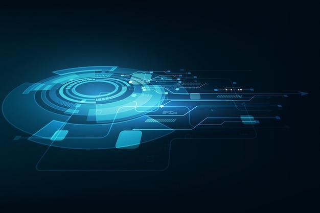 Vector la tecnologia futura astratta, priorità bassa elettrica delle telecomunicazioni