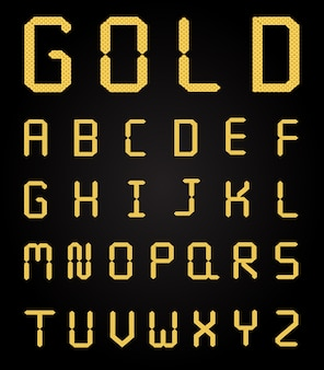 Vector lettere d'oro splendente