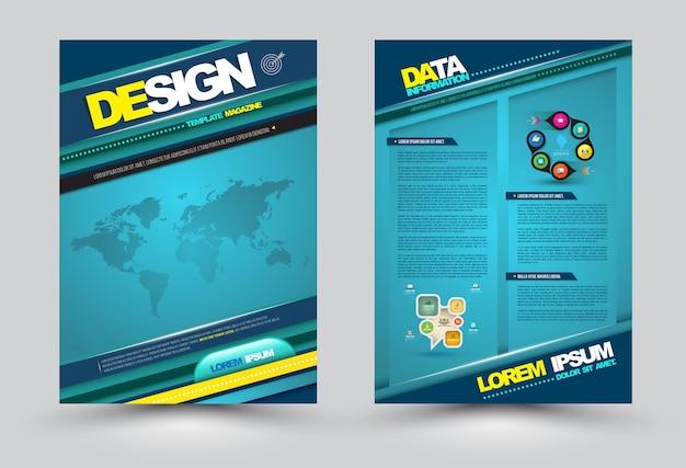 Vector lo stile moderno del modello della pagina di progettazione.