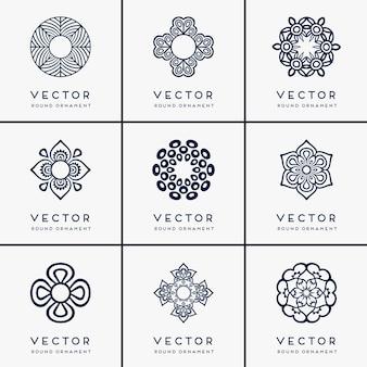 Vector mandala etnica