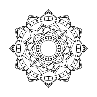Vector mandala linear design