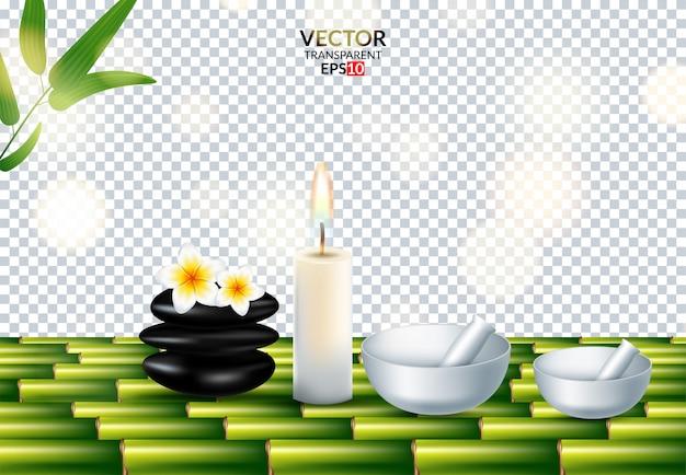 Vector pietre realistiche su trasparente