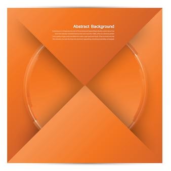 Vector quadrato bianco. origami di carta