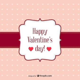 Vector retro della carta di san valentino gratuito