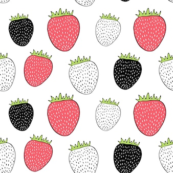 Vector seamless con fragole