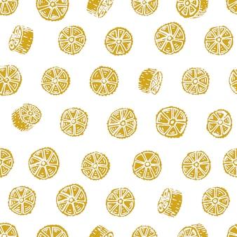 Vector seamless con pasta italiana. ruote sfondo disegnato a mano. può essere utilizzato per menu, etichette, imballaggi.