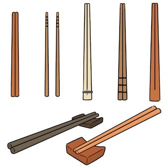 Vector set di bacchette